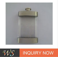 New arrival 8oz plastic hip flask