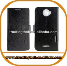 2014 New Products Mobile Phone Flip Leather Case for HTC OneX