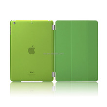 Full Protector Leather Hard Smart Cover and Rubberized Back Case for iPad Pro 9.7 Case, Detachable, Green