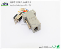 d-sub computer connector DB9p female to RJ12 connector