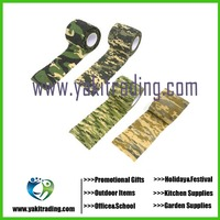 1 Roll Telescopic Camo Stretch Bandage Camping Hunting Camouflage Tape for Gun Cloths Camera Flashlight Bicycle Motorbike, 4.5m