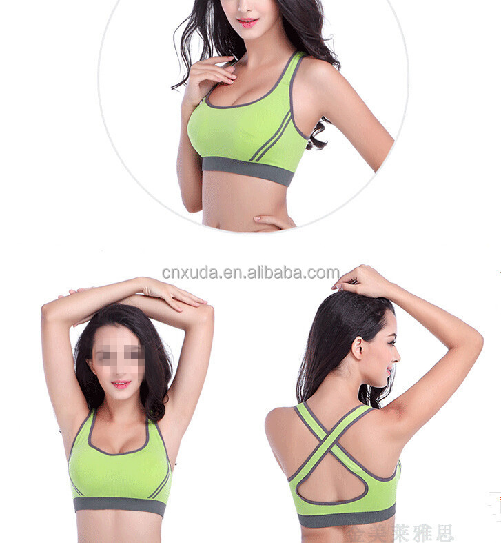 2017 Women Sexy Racer back Stretch Yoga Athletic Sports Bras Running Bra