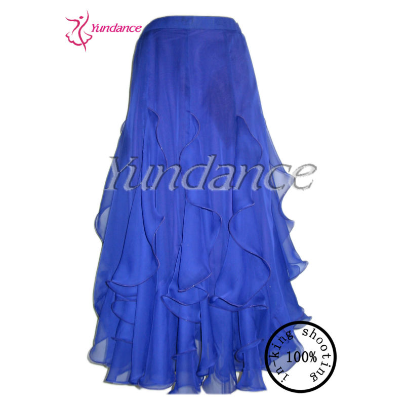 S-40 Plain color Royal Blue chiffon ballroom dress