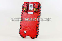 Promotional showkoo Galaxy S4 Case, Bling Hand Made Cow Genuine Leather Mobile Phone Cover For Samsung Galaxy S4 I9500