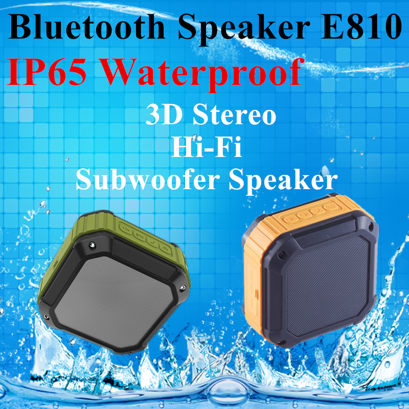 Easy To Use ABS Mini Cube Waterproof Bluetooth Speaker E810 With Microphone Quran Speaker