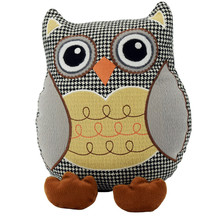 Stuffed toy owl door stopper heavy duty soft door stops