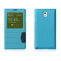 Blue Folio Leather Case For LG G3 Mobile Phone Cover