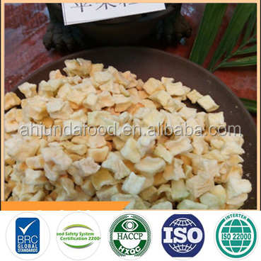 Factory Supply Apple Dry Cubes Diced Apple Air Dried Wholesale Dried Apple