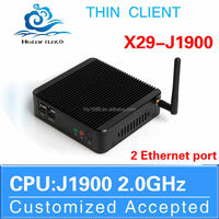 2015 New j1900 dual lan mini pc 2 lan port celeron j1900 dual lan x29 j1900 support win7 / linux / win8