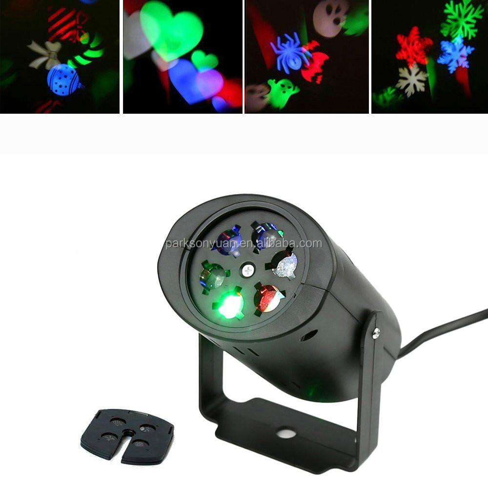 4W RGB Holiday Lights LED Rotating Stage Lighting Christmas Lights Projector For Disco DJ Birthday Party