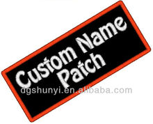 1 Custom Embroidered Name Patch Biker Tag IRON ON Badge Embroidery