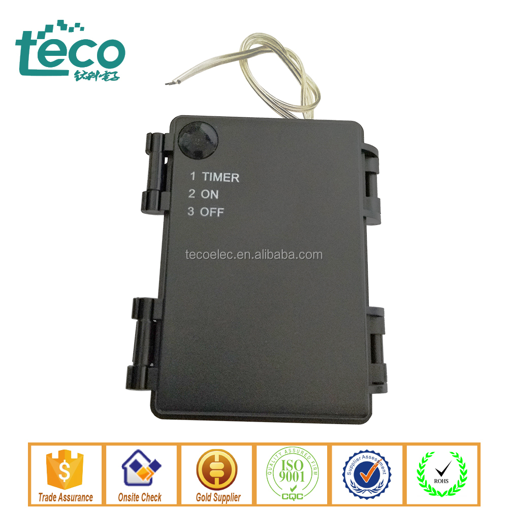 TBH-C-2F Ningbo TECO High quality Waterproof 3V 2C Battery Holder with Cover & Switch