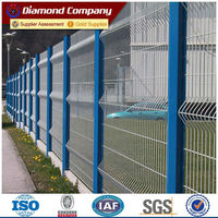 Sale PVC galvanized security welded fence with square post/ wire mesh fence panel price