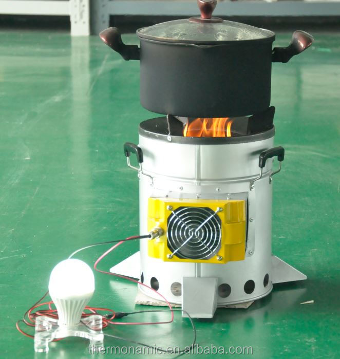 Camping Stove For Cooking With A 10 Watt Thermoelectric