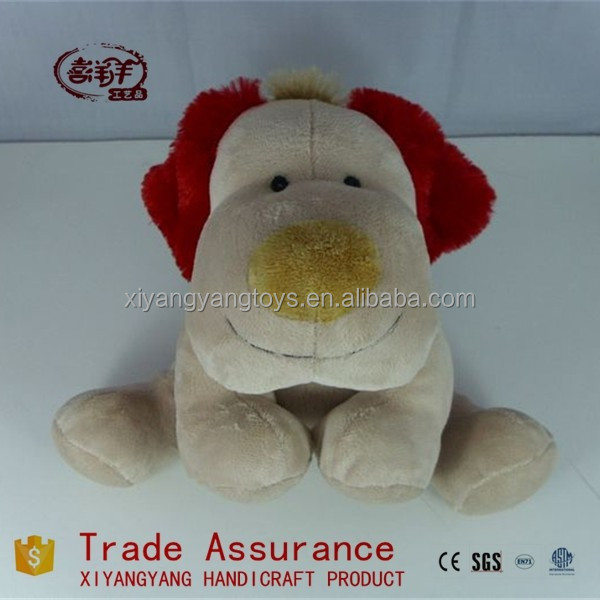 plush toy dog smiling face red ear dog stuffed toys