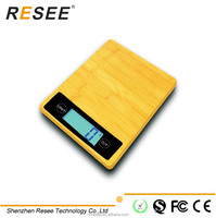 household health diet kitchen scale bamboo material scale type digital scale