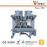 2 way and Phoenix type terminal block Wired WJHT6 fast connector through high voltage metal busbar