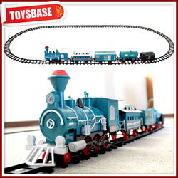 165cm Electric music and smoking puzzle train track toys