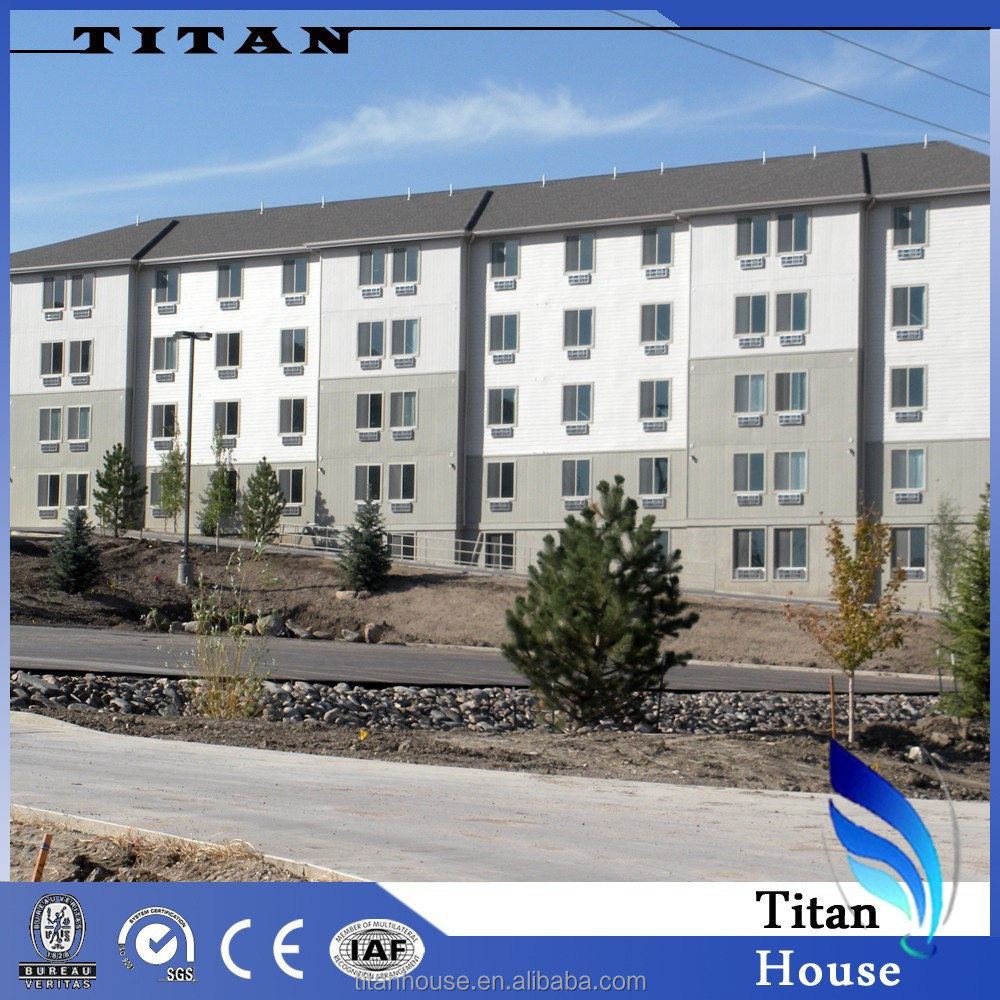 High Rise Modular Steel Structure Prefabricated Hotel Building