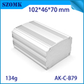 New extruded aluminum box electronic heat sink enclosure 46*70*102mm