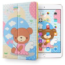 Brand new pattern Protective Ultra Slim Shockproof tablet case kids double fold cover for ipad mini123