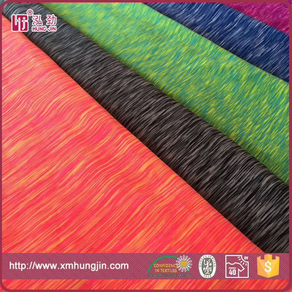 180gsm 90/10 polyester /spandex space dye fabric for sportswear