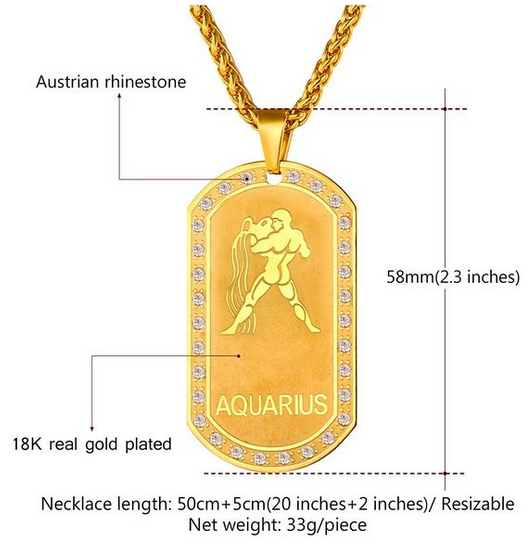 Libra Zodiac Laserengraved Sign Stainless Steel Dog Tag: Online Shop China Fashion Stainless Steel Jewellery Gold