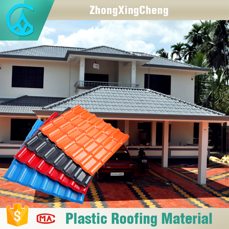 ZXC Brand Light Weight Fake Spanish Materials Plastic Roof Tile
