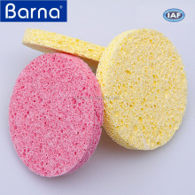 factory direct sale compressed colorful custom facial skin care cleaning cellulose sponge for bath shower