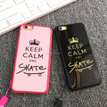 Fashion Brand Black Keep Calm and Skate Case For Silicon TPU Soft Back Cover Case For iphone 5/5s 6/6s 6/6s plus