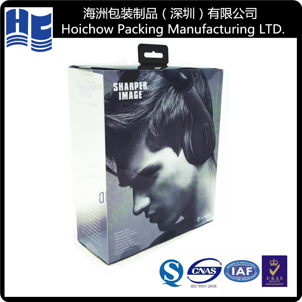Hot selling blister plastic packaging for Headphones blister