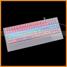 Factory New Backlight Ultra-thin Keyboard 3 Color LED Ergonomic Gaming Mechanical Keyboard USB Multimedia Backlight Keyboard