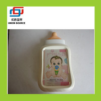 Funny baby bottle resin photo frame