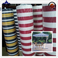 100% polyester waterproof yarn dyed fabric for garden furniture