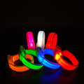 Outdoor Sports Colorful Woven Flashing Led Wristband for Night Running