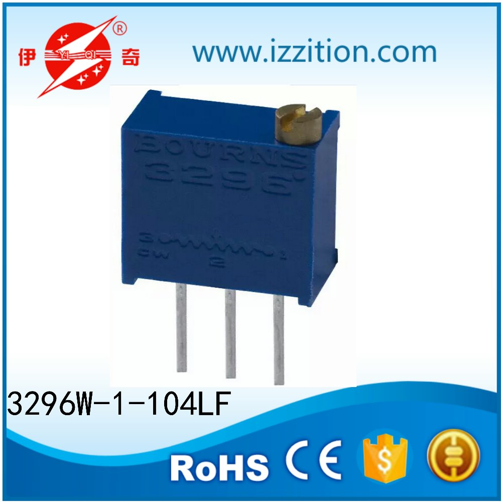 100k Ohm 0.5W, 1/2W PC Pins Through Hole Trimmer Potentiometer with low price
