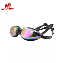 High quality swim glasses mirror coating adults myopia swimming goggles with degree