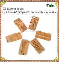 Stylish wood rugged cell phone case for iphone 6 wooden