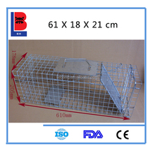 60X18X21cm Galvanized Collapsible Humane Rat Animal Trap Cage For Sale