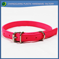 China Hot Selling Elastic Double-deck Dog Nylon Plain Collars