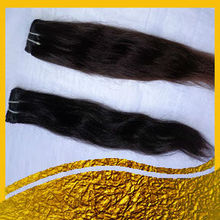 Mangolian stricking no sedding weft body weavy remy virgin human hair extension