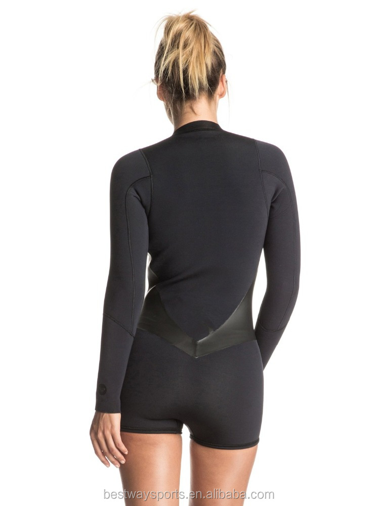 New Pop Surf 2mm Front Zip Sexy Womens Springsuit Neoprene Wetsuit