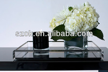 China acrylic transparent amenity customized serving tray