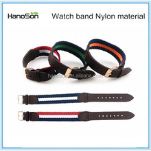 Wrist watches Texture Western Genuine Leather + Nylon Watch Bands from Hanoson Tech