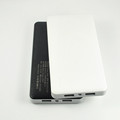 Hot sales 5V 2A input 5V1A 2A output P100 imitation leather power bank