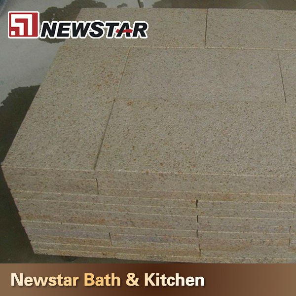 Newstar polished G682 Golden Yellow 24 x 24 flamed granite tiles