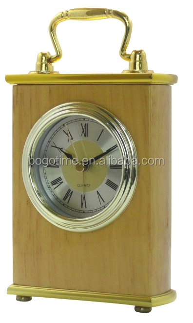 pretty funny wooden alarm table clock for home decor