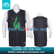 OEM basketball jersey with personalized printing & embroidery, and splendid color