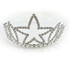 2015 Hot Selling OEM Beautiful star crystal Tiara Crowns