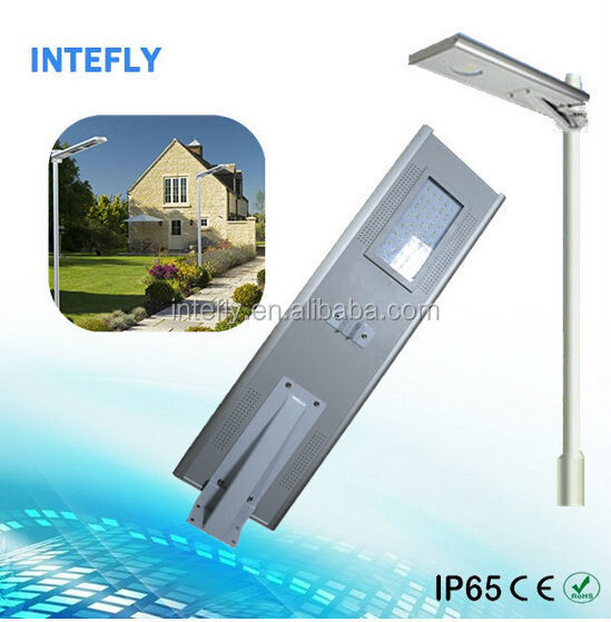 Alibaba supplier Intefly supply all in one wind solar hybrid street light